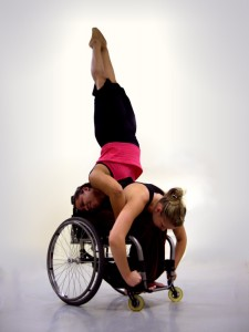 Dancing Armstand in a wheelchair