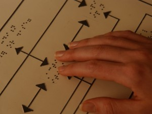 image of braille being read